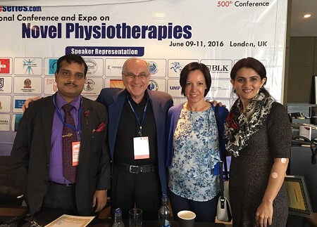 Dr andana at international expo on Novel Physiotherapies
