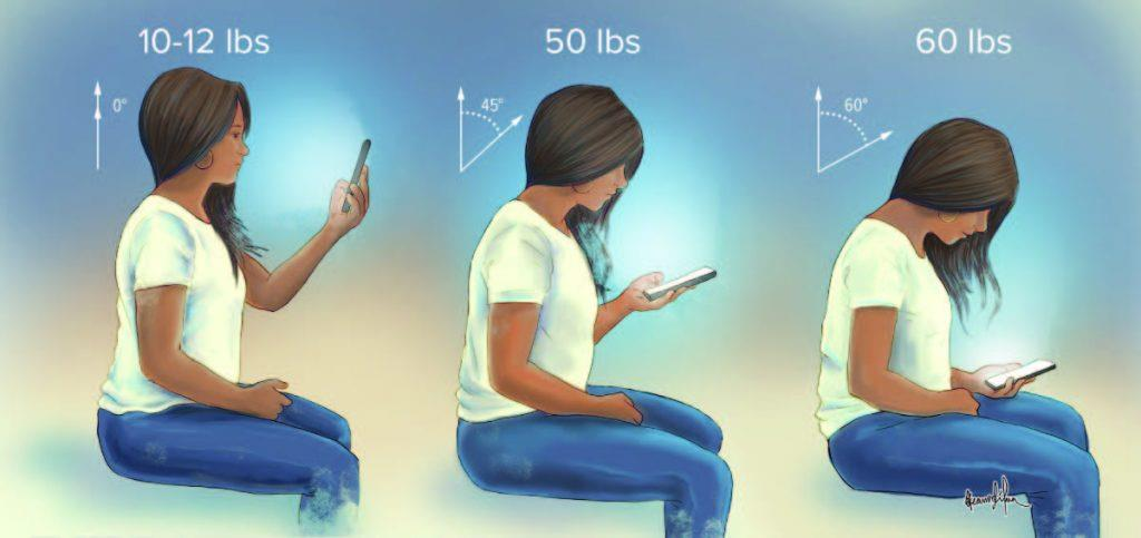 Postures while using phone